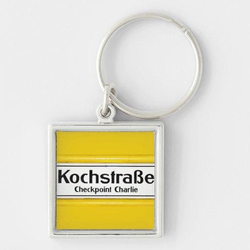 Checkpoint Charlie, Kochstrabe, Yellow Border Keychain