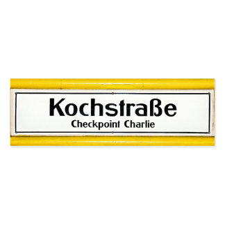 Checkpoint Charlie, Kochstrabe, Yellow Border Pack Of Skinny Business Cards
