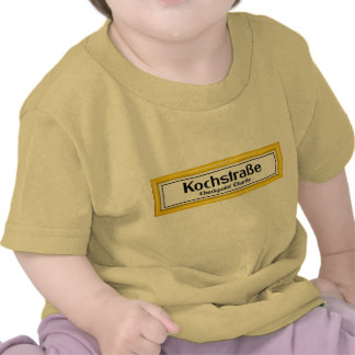 Checkpoint Charlie Kochstrabe Yellow Border T-shirts