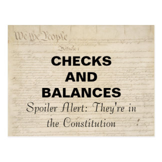 Checks and Balances in the Constitution Resistance Postcard
