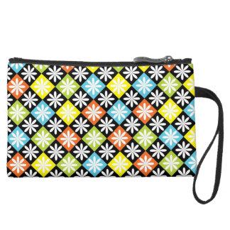Checks and Flowers Mini Clutch Bag Wristlets