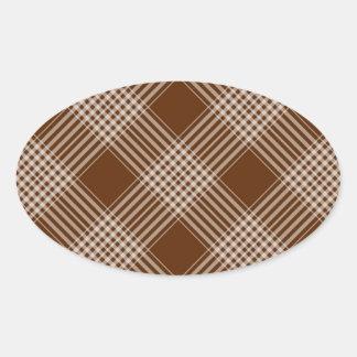 Checks Plaid Tartan Brown Diagonal Wallpaper Stickers