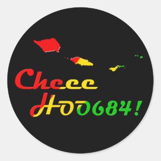 CHEE HOO 684 ROUND STICKER