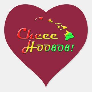 CHEE HOO 808 HEART STICKER