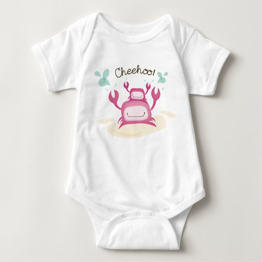 """""""Cheehoo!"""" Maui Hawaii Crabs Baby Bodysuit"""