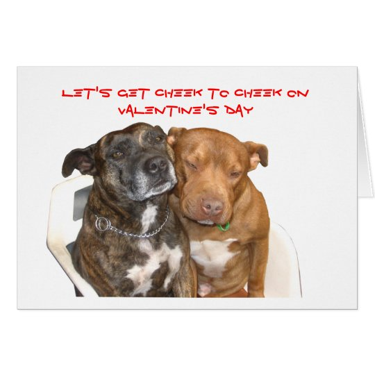 Cheek to Cheek Staffy Valentine Card