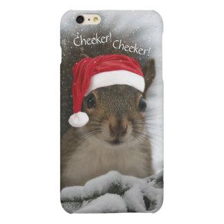 Cheeker Cheeker Santa Squirrel in Snow iPhone 6 Plus Case