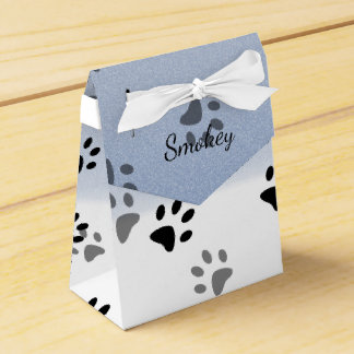 Cheeky Cat Footprints in Snow Template Favour Box