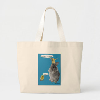 Cheeky Chick Easter Bunny Cartoon Canvas Bags