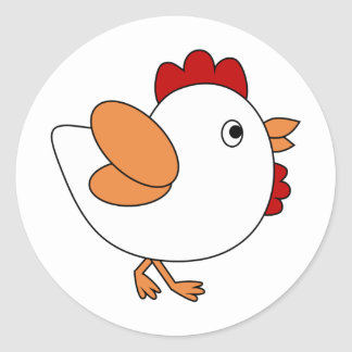 Cheeky Chicken Classic Round Sticker