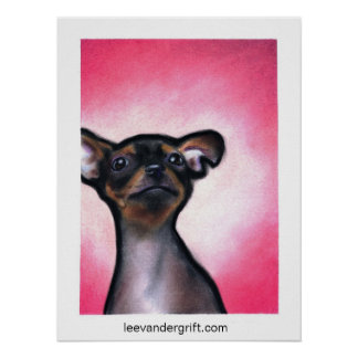 Cheeky Chihuahua, leevandergrift.com Poster