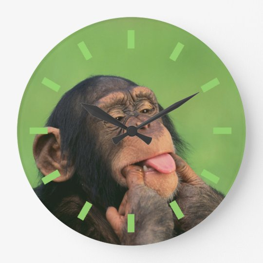 Cheeky Chimp Large Clock