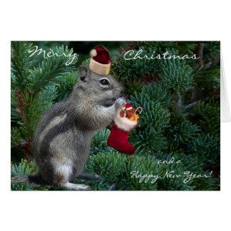 Cheeky Christmas Chipmunk Card