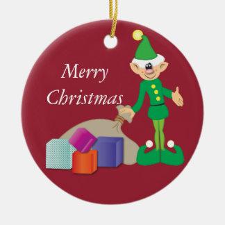 Cheeky Elf Christmas Decoration