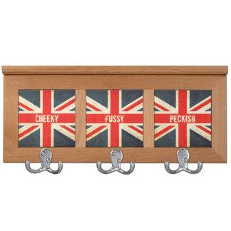 Cheeky Fussy Peckish Union Jack Coat Rack