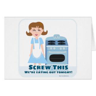 Cheeky Housewife Card