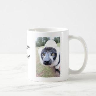 cheeky lemur mug