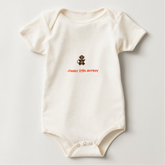 Cheeky little monkey baby grow vest baby bodysuit