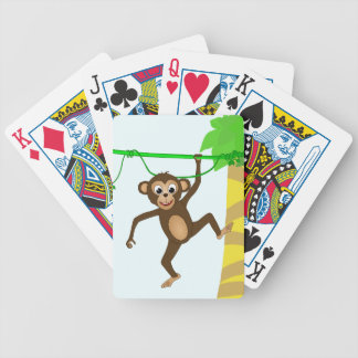 Cheeky Little Monkey Cute Cartoon Animal Bicycle Playing Cards