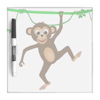 Cheeky Little Monkey Cute Cartoon Animal Dry Erase Board