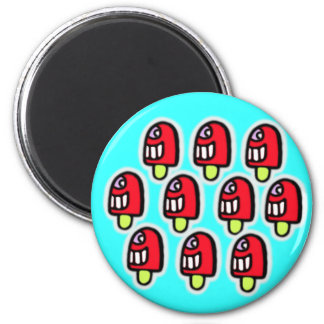 cheeky loll 6 cm round magnet