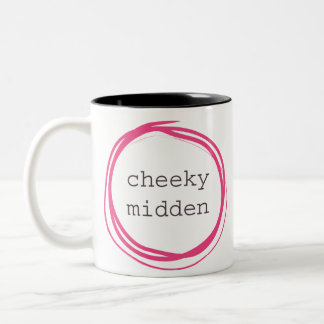 Cheeky midden funny Two-Tone coffee mug