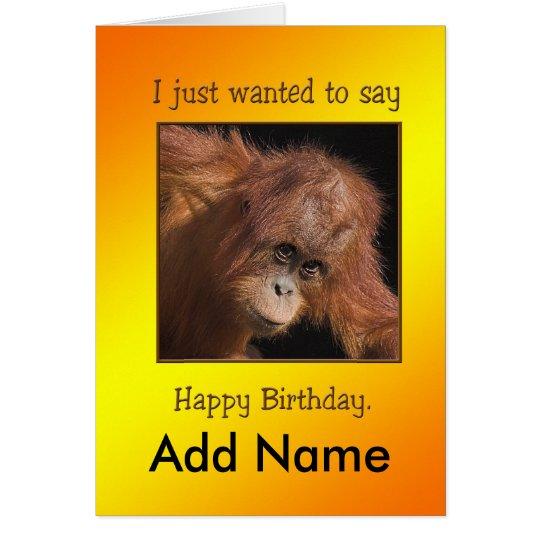 Cheeky Monkey Birthday Card