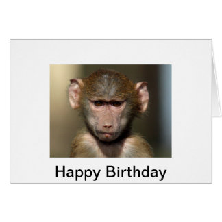 Cheeky Monkey Birthday Card - Cute Animal Design