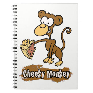 Cheeky Monkey Cartoon Design Notebooks