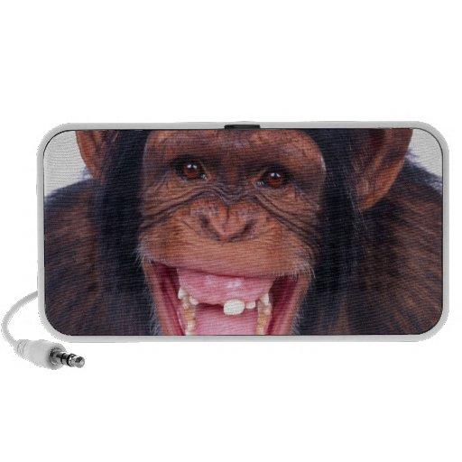cheeky monkey chimp chimpanzee wild animal mini speaker
