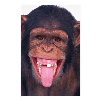 cheeky monkey chimp chimpanzee wild animal stationery