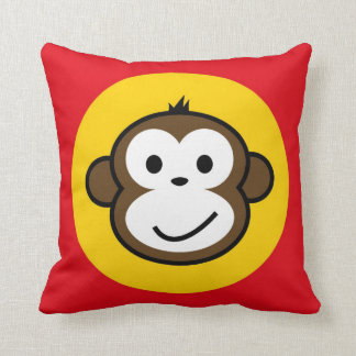 cheeky monkey cushion red