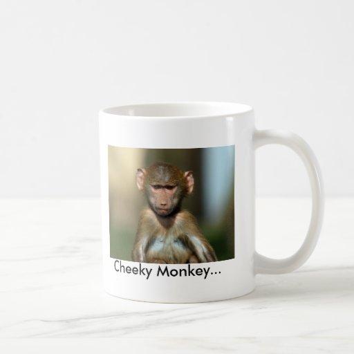 Cheeky Monkey - Cute Baby Baboon Mug / Cup
