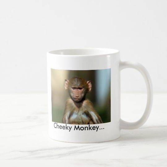 Cheeky Monkey - Cute Baby Baboon Mug / Cup
