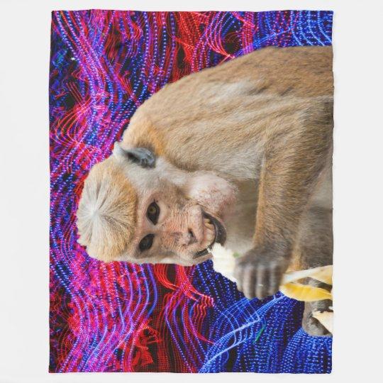 Cheeky monkey fleece blanket