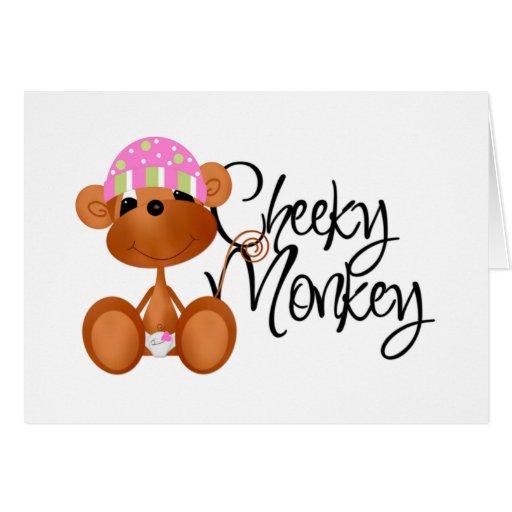 Cheeky Monkey - Girl Tshirts and Gifts Card