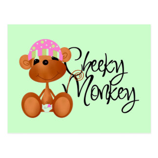 Cheeky Monkey - Girl Tshirts and Gifts Post Cards