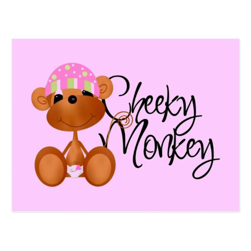 Cheeky Monkey - Girl Tshirts and Gifts Postcard