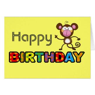 Cheeky monkey happy birthday card