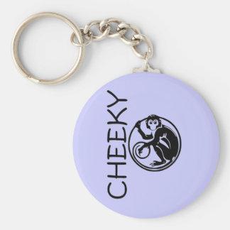 Cheeky Monkey Illustration Basic Round Button Key Ring
