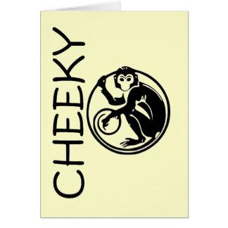 Cheeky Monkey Illustration Greeting Cards
