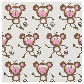 cheeky monkey nursery fabric