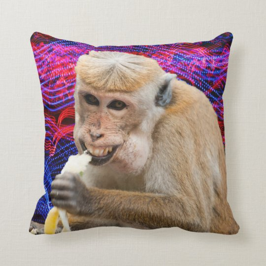 Cheeky monkey throw pillow