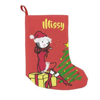 Cheeky Mrs Claus Christmas Stocking