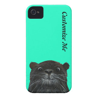 cheeky otter mint green iphone case cover