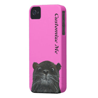 cheeky otter neon pink iphone 4  case cover iPhone 4 cover
