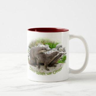 Cheeky Otters Two-Tone Mug