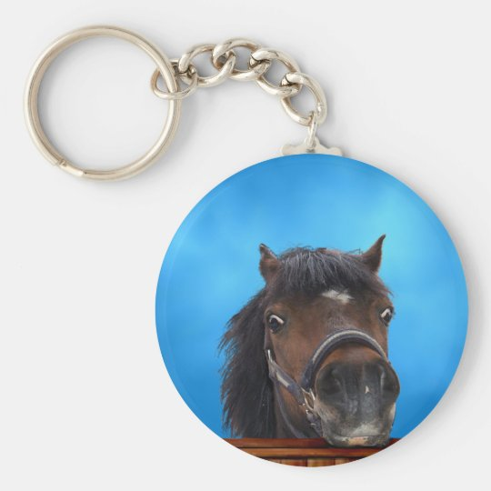Cheeky pony, Customise me. Basic Round Button Key Ring