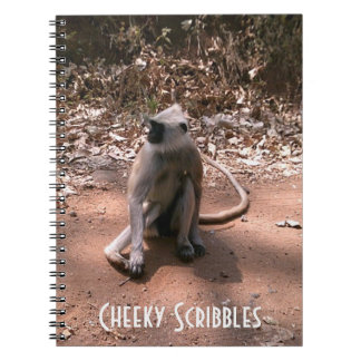 Cheeky Scribbles Monkey Notepad Journal