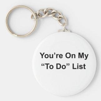 Cheeky slogan key chain